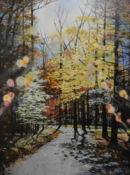 Stroll into Fall - Oil on Canvas - Whitney C Brock