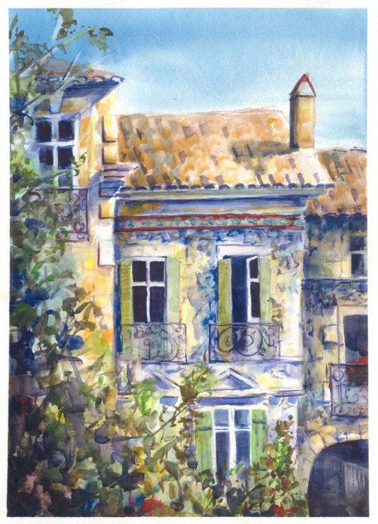 Nove, France - Watercolor - Whitney C Brock