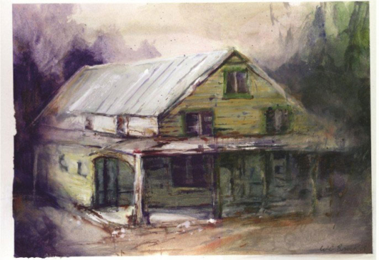 Old General Store - Watercolor - Whitney C Brock
