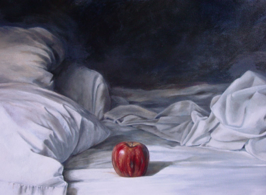 Red Apple - Oil on Canvas - Whitney C Brock