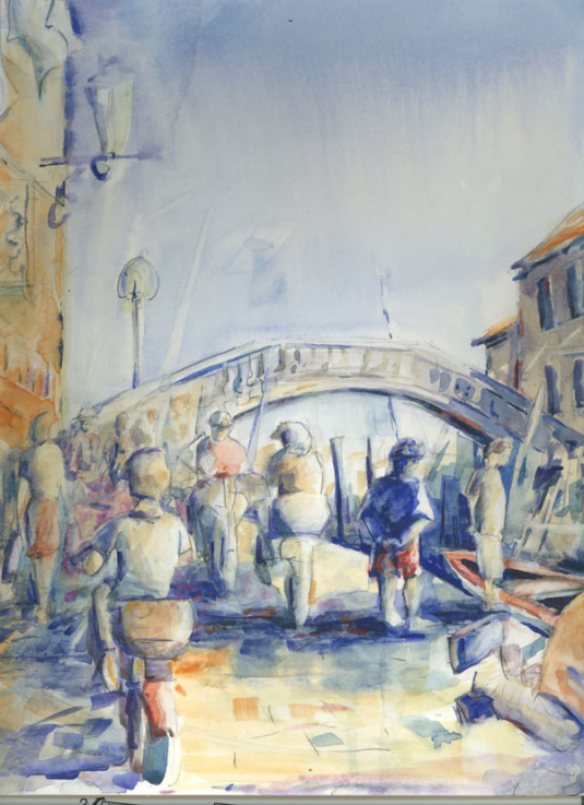 Tuscany Italy - Watercolor - Whitney C Brock