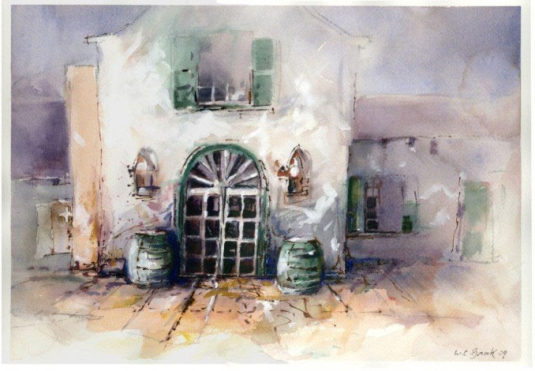 Vineyard - Watercolor - Whitney C Brock