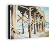 """Cherry Grove Pier"" Gallery Wrapped Print"
