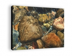 """River Rocks II"" Gallery Wrapped Print"